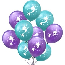 15pcs Mermaid Birthday Party Decor Balloons Oceanic Little Mermaid Bday Party Decorations Under the Sea Balloon Bundle Bouquet