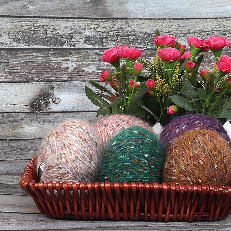YOMDID-lana de terciopelo de Alpaca para tejer a mano, hilo de lana suave para bufanda, sombrero, suéter, bricolaje