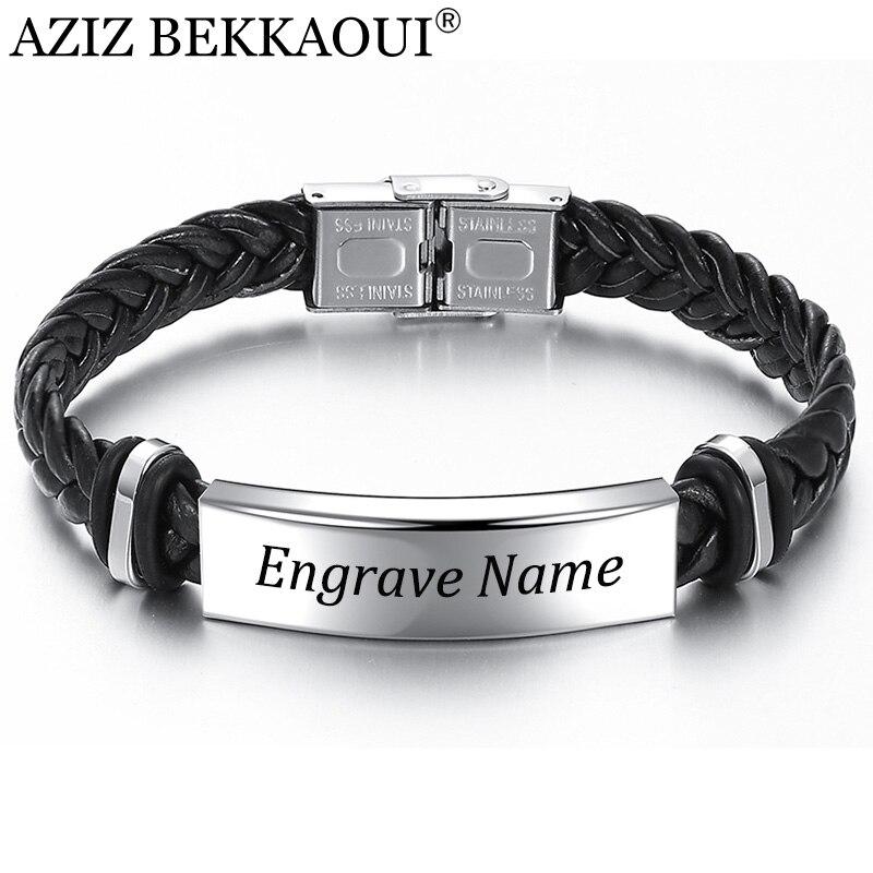 aziz-bekkaoui-incidere-il-nome-nero-braid-tessuto-braccialetto-di-cuoio-bracciale-in-acciaio-inossidabile-degli-uomini-del-braccialetto-degli-uomini-dei-monili-del-regalo-dell'annata