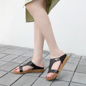 2021 Leather Woman Summer Sandals Casual Women Shoes Female Ladies Wedge Retro Sandalias Plus Size Women Sandals
