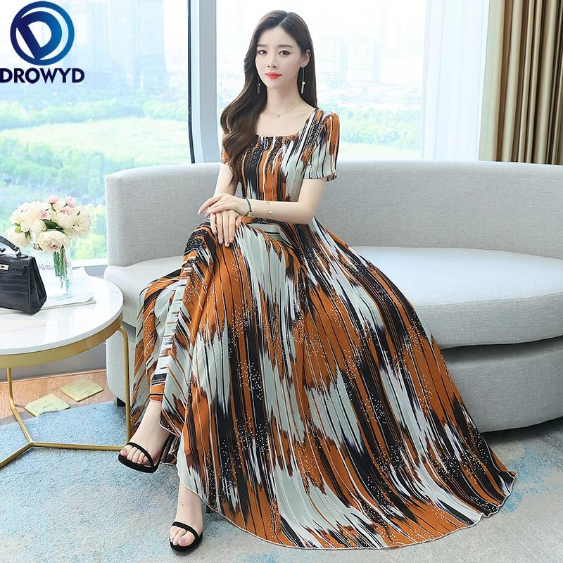 Robe Longue Dress Women Summer Chiffon Plus Rozmiar Sukienki Ropa Mujer Verano 2021 Sukienka Boho Vi