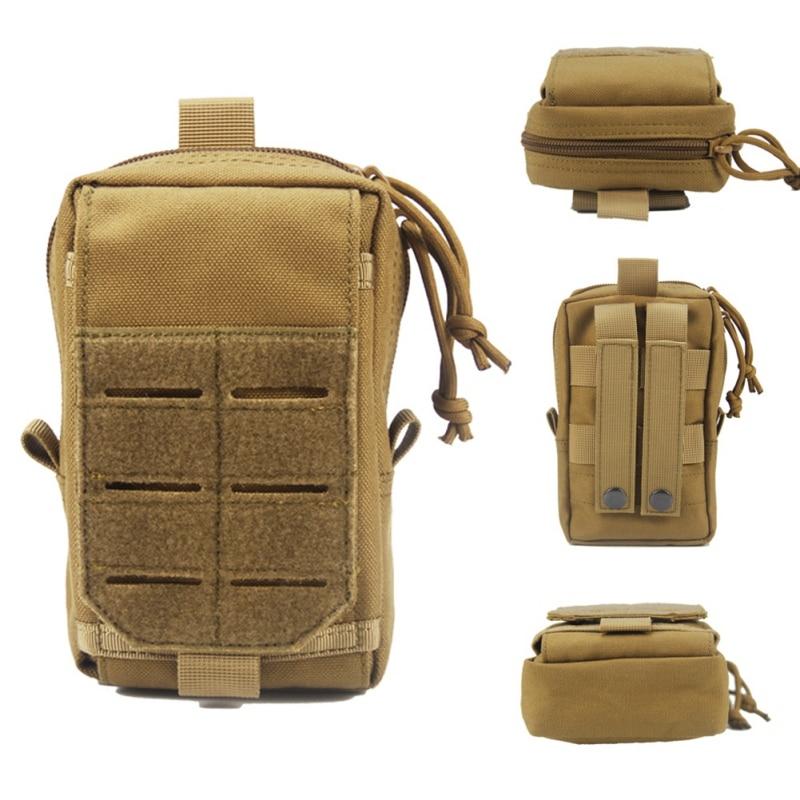 Bolsa EDC Molle para caza al aire libre, dispositivo de utilidad, cinturón, riñonera portátil, impermeable, bolsas para acampar y senderismo ZL07