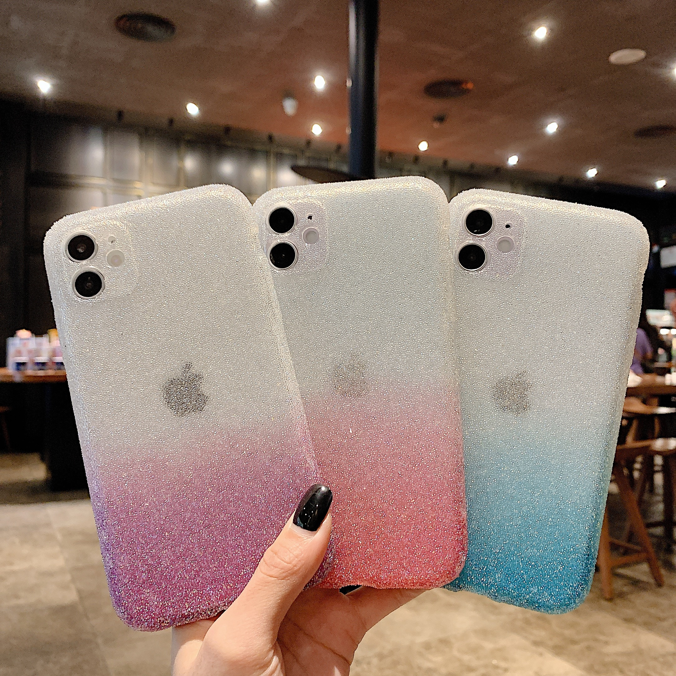 Fashion Iphone Case For Iphone 12 11Flash Diamond Gradient Color Phone Case For Iphone  X XR XS11 12 Mini  Pro Max Accessories