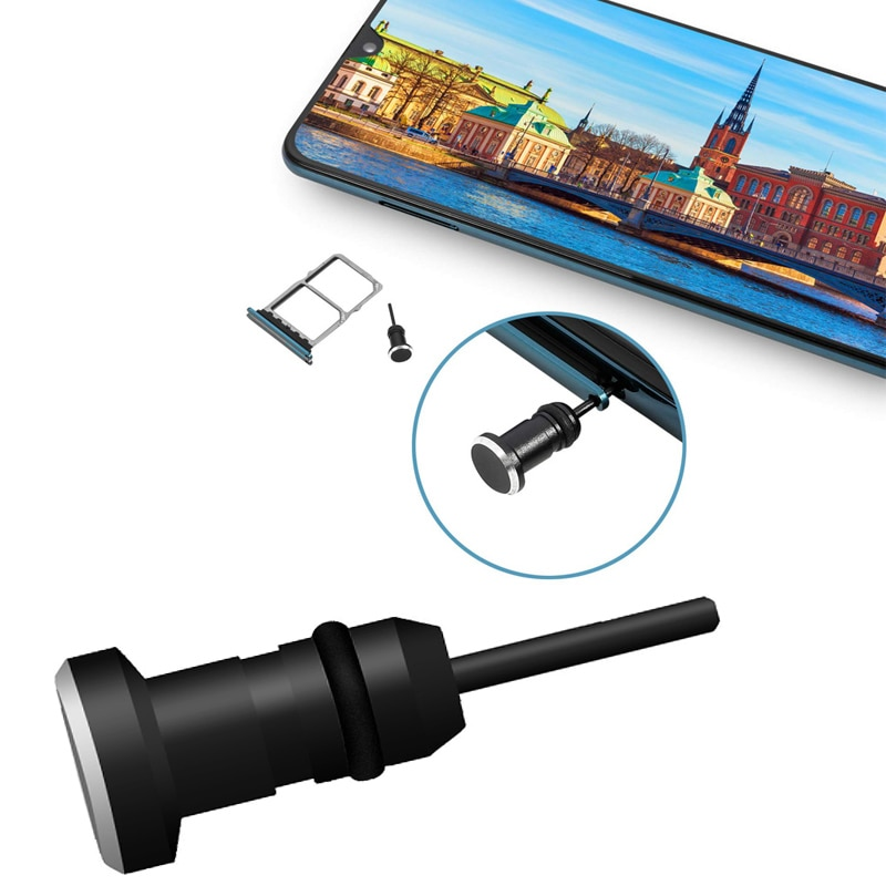 Audio música Dust Plug 3,5 AUX auriculares interfaz teléfono móvil tarjeta recuperar tarjeta Pin para Apple Iphone Plus Samsung teléfono móvil