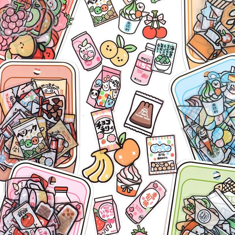 40-pz-set-snack-shop-serie-decorativo-carino-cancelleria-adesivi-in-pvc-scrapbooking-album-diario-fai-da-te-torta-di-frutta-stick-lable