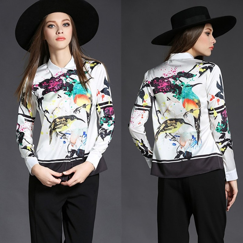 Women Tops 2020 Latest Fashion New Arrival Tops Turn-down Collar Full Sleeve Animal Print Shirt Fashion Casual Blouse Women