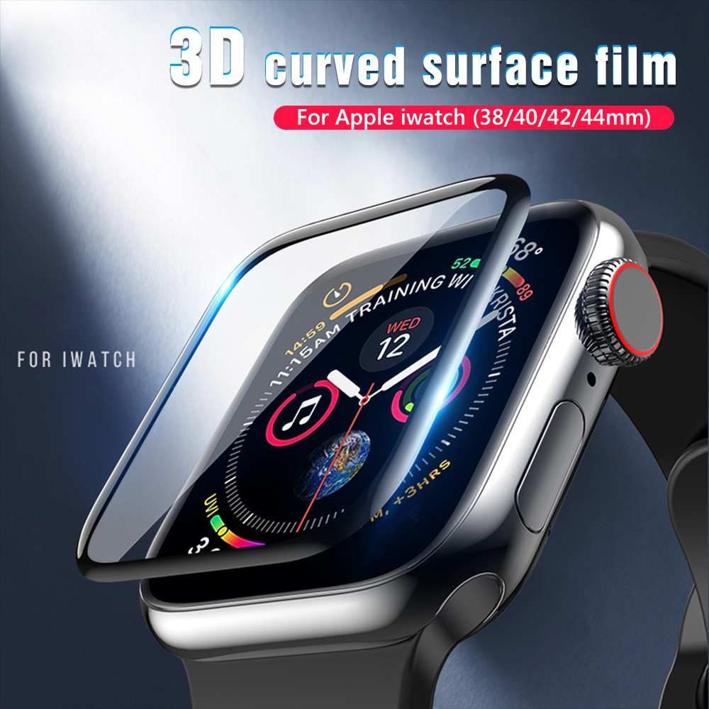 3d full cover tempered glass for apple watch series 1 2 3 4 5 protective screen protector for iwatch 38 42 40 44 mm soft film Screen Protector For Apple Watch 6 5 4 se 40mm 44mm Clear Full Not Tempered Glass Protective Film For Apple Iwatch Series 3 2 1