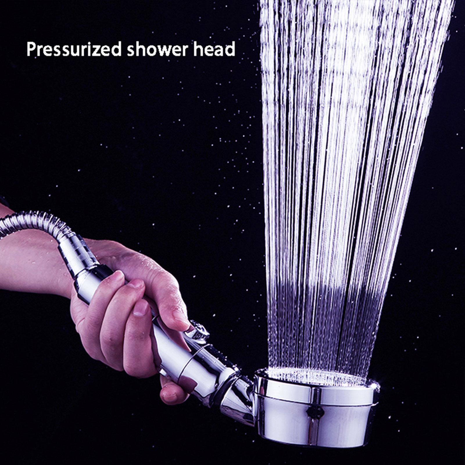 3 Modes Shower Head Bathroom Water Handheld Shower Head Adjustable Jet Shower Head High Pressure Negative Ion Filter Shower Head