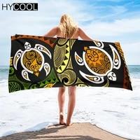 beach towel women robes bath wearable towel hawaiian honu sea turtle swirl polynesian printed absorbent face hair towels
