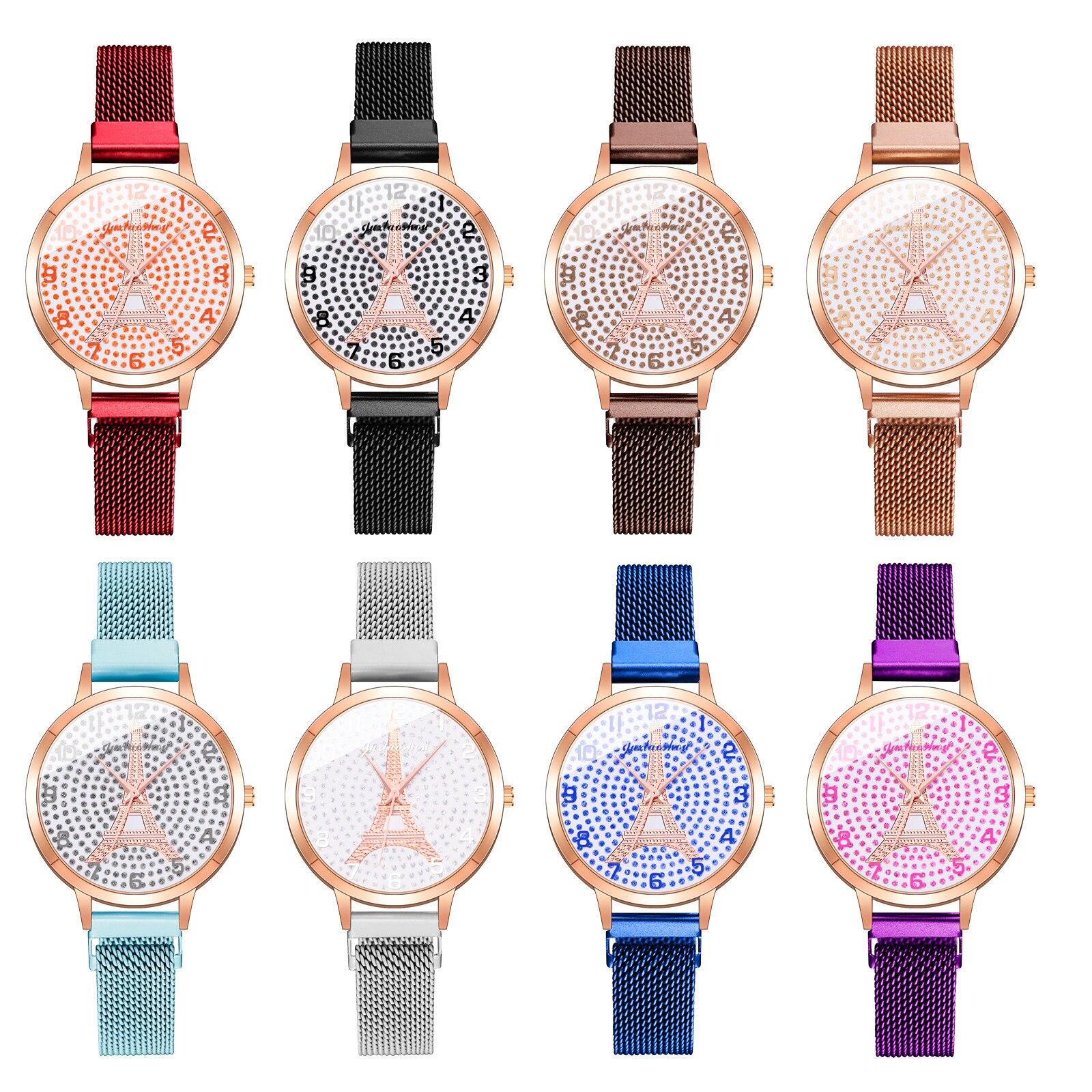 Women Watch Fashion Watch Clock Stainless Steel Casual Dress Wrist Crystal Jewelry Женские Ч