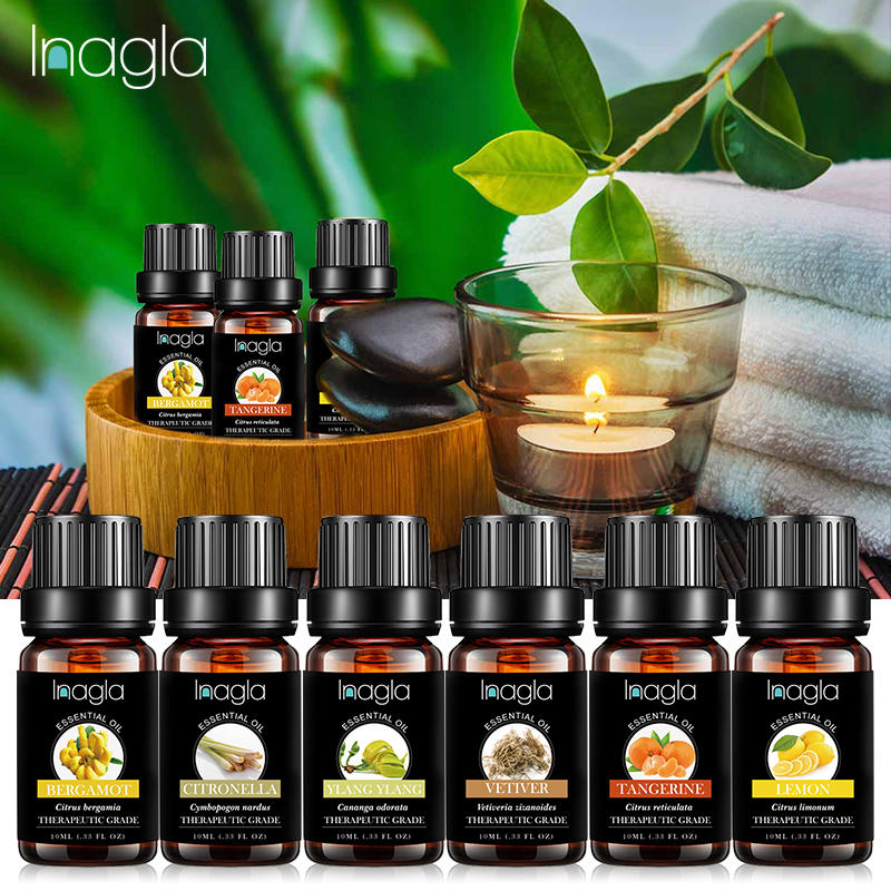 Inagla Rosemary Essential Oil Water-soluble Fruit Relieve Stress for Humidifier Fragrance Lamp Air F