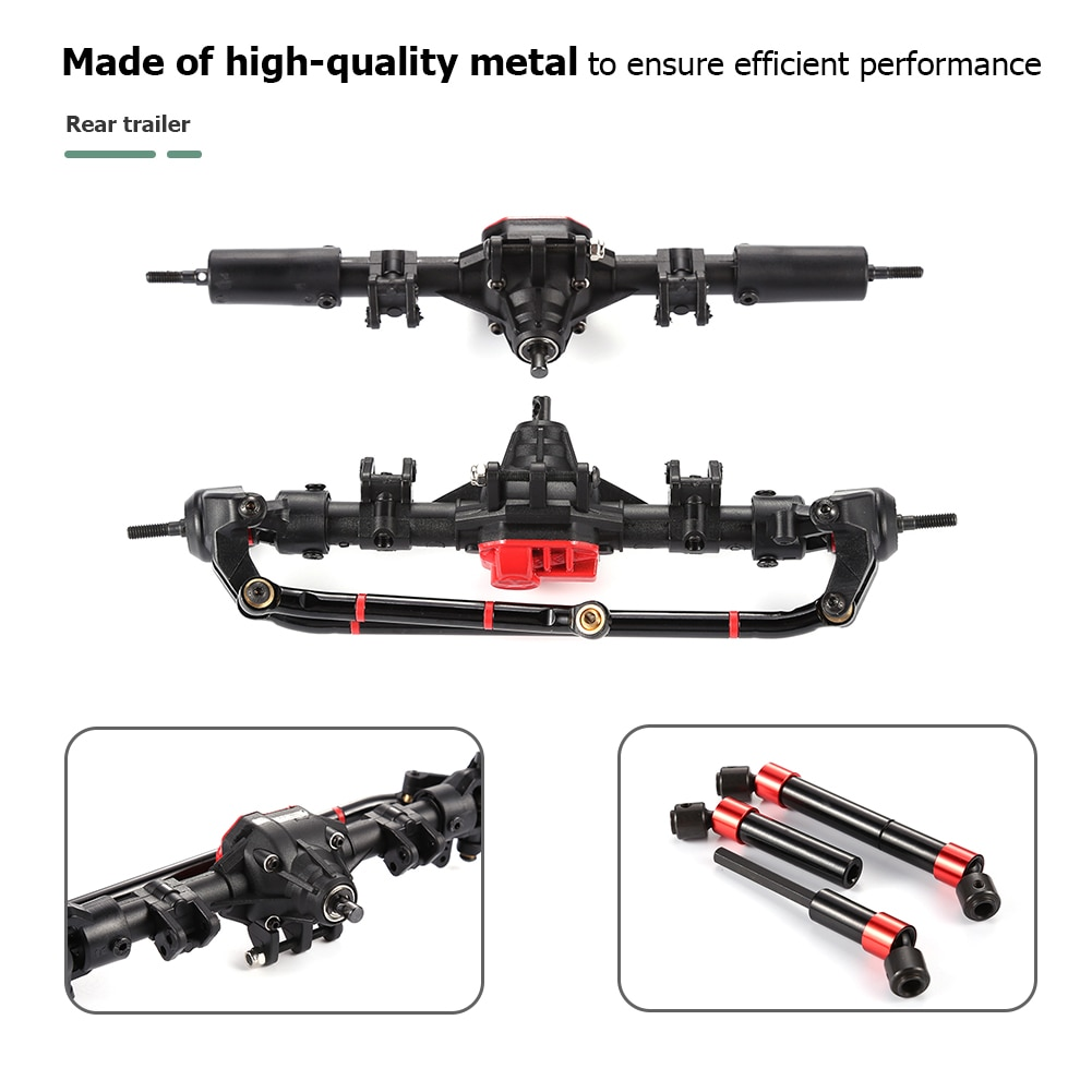 Cool Drive Shaft Front Rear Axle Nylon Axle Box for 1/10 RC Car Axial SCX10 II Remote Control Toys Replace Accessories enlarge