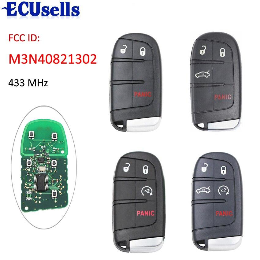 2 + 1/3 + 1/4 + 1 кнопка дистанционный смарт ключ-брелок 433 МГц для Fiat 500 500L 500X для Jeep Compass Renegade FCC ID: M3N-40821302