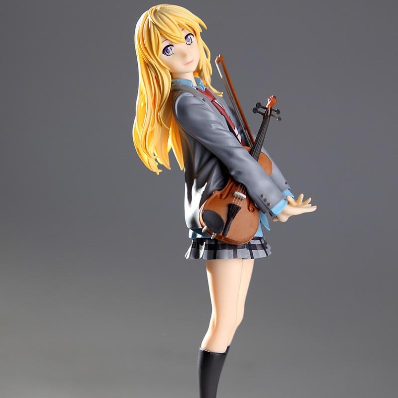 action figure your lie in april kaori miyazono cartoon doll PVC 20cm box-packed japanese figurine world anime