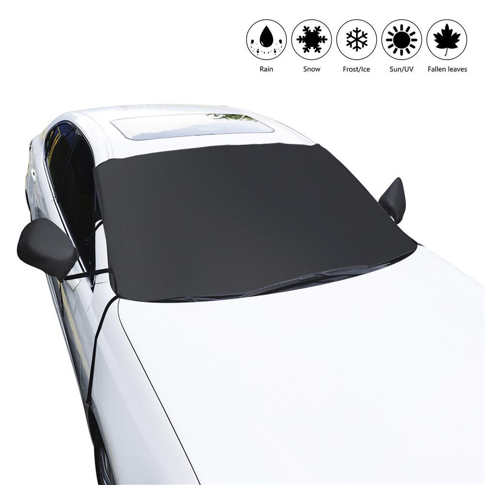 1 Pza Protector de nieve de invierno para el parabrisas del coche cubierta de nieve impermeable cubierta de la ventana del Protector de la helada del hielo con las cubiertas del espejo