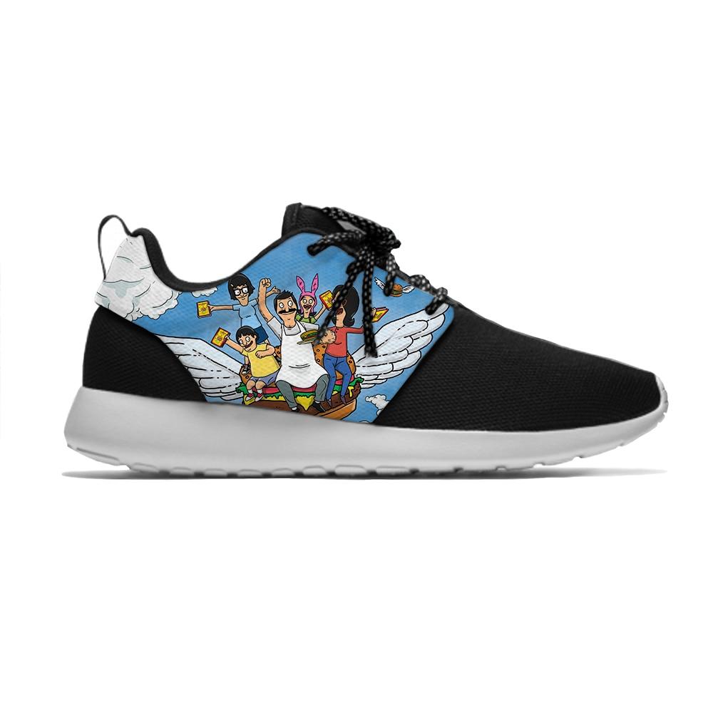Dibujos animados de Anime Bobs Burgers Hot Cute gracioso niños deporte correr zapatos populares Casual transpirable zapatillas regalo niños niñas niños