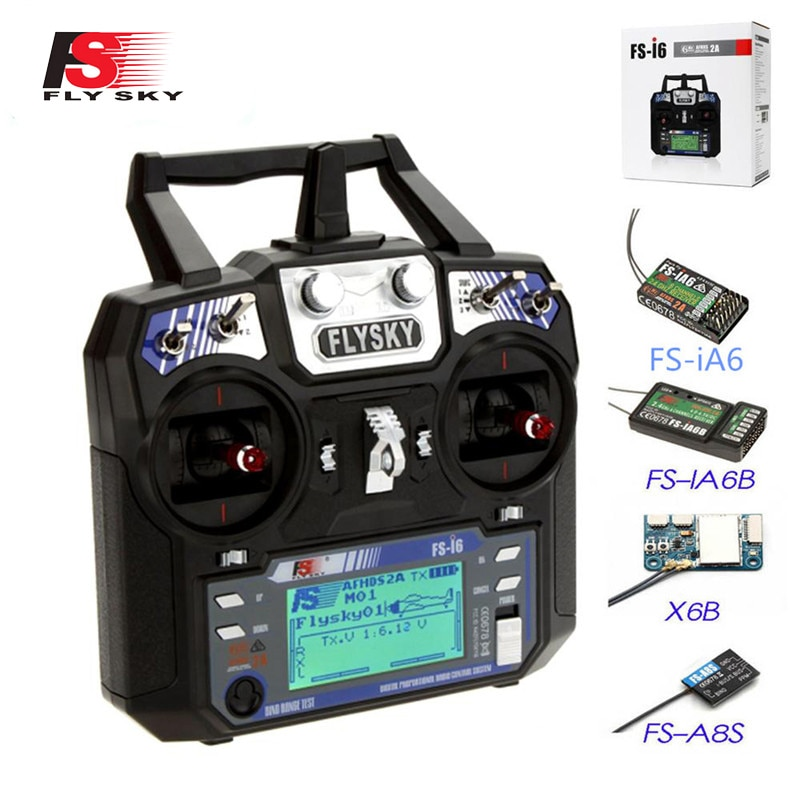 Flysky FS-i6 FS I6 2.4G 6CH AFHDS RC Transmitter With iA6B X6B A8S R6B iA6 Receiver Radio Remote Con