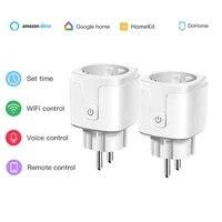 Ue Wifi prise de courant intelligente prise minuterie intelligente 16A 100-250V commande vocale fonctionne avec Siri Alexa Google Home Homekit Dohome APP