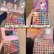 63/70/88 kolory brokat Eyeshadow Palette Eyeshadow wodoodporny Eye glitters koraliki Light długotrwały makijaż Eyeshadow Pallete