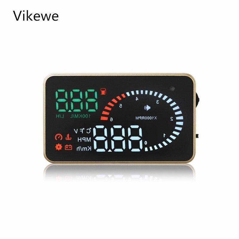 Vikewe x6 carro hud head up display obd2 ii euobd sistema de aviso excesso de velocidade projetor pára-brisa alarme tensão eletrônico automático