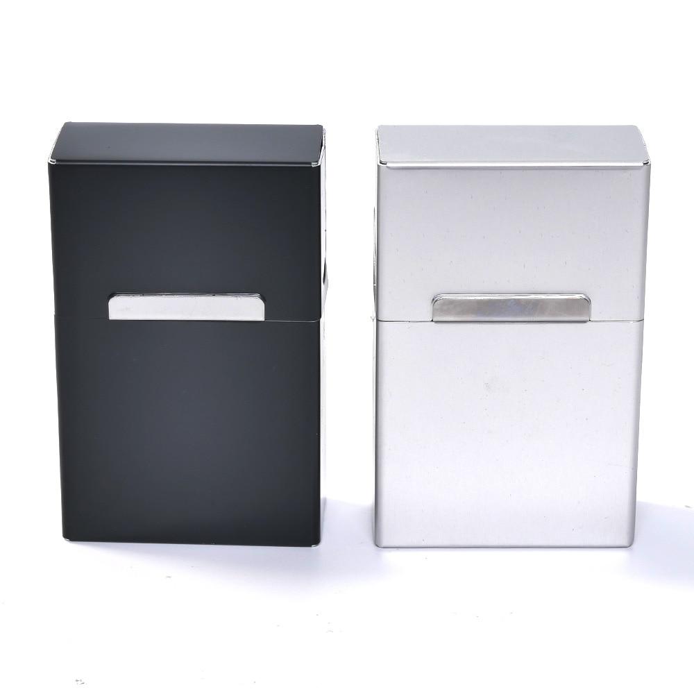 Hot New 1PCS Magnetic King Size Metal Aluminum Pocket Cigarette Cigar Tobacco Box Case Holder  9.2cm*6cm*2.7cm