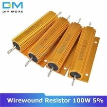 0.5R 1R 2R 4R 6R 8R 10R 20R 100W 5% + 5%-5% carcasa de aluminio ubicado caso de bobinado resistencia/0,5/1/2/4/6/8/10/20/50/ 100 Ohm