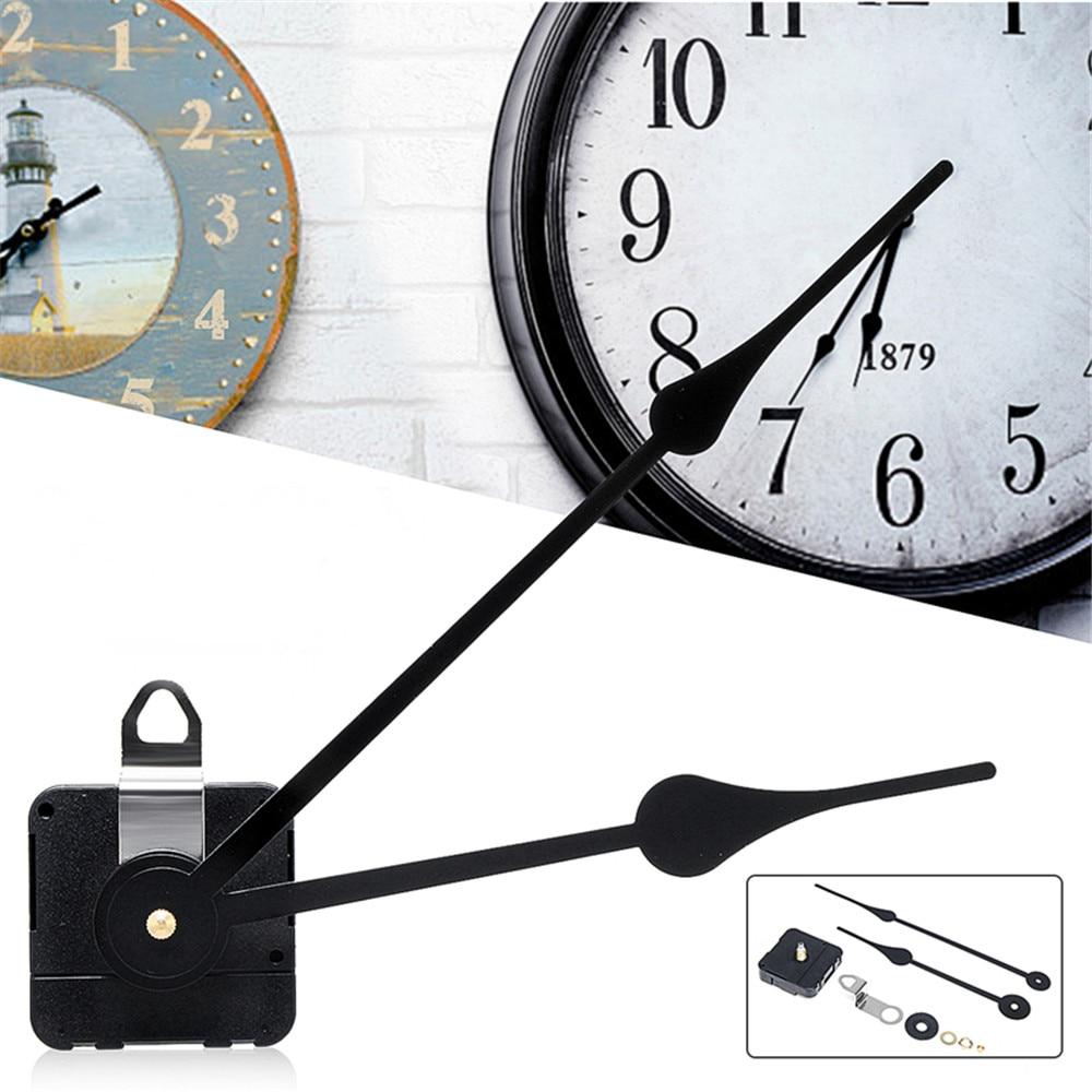 1 комплект бесшумные настенные часы с высоким крутящим моментом, кварцевые управляемые часы, механизм двигателя, часовая минутная Замена стрелок, необходимый инструмент