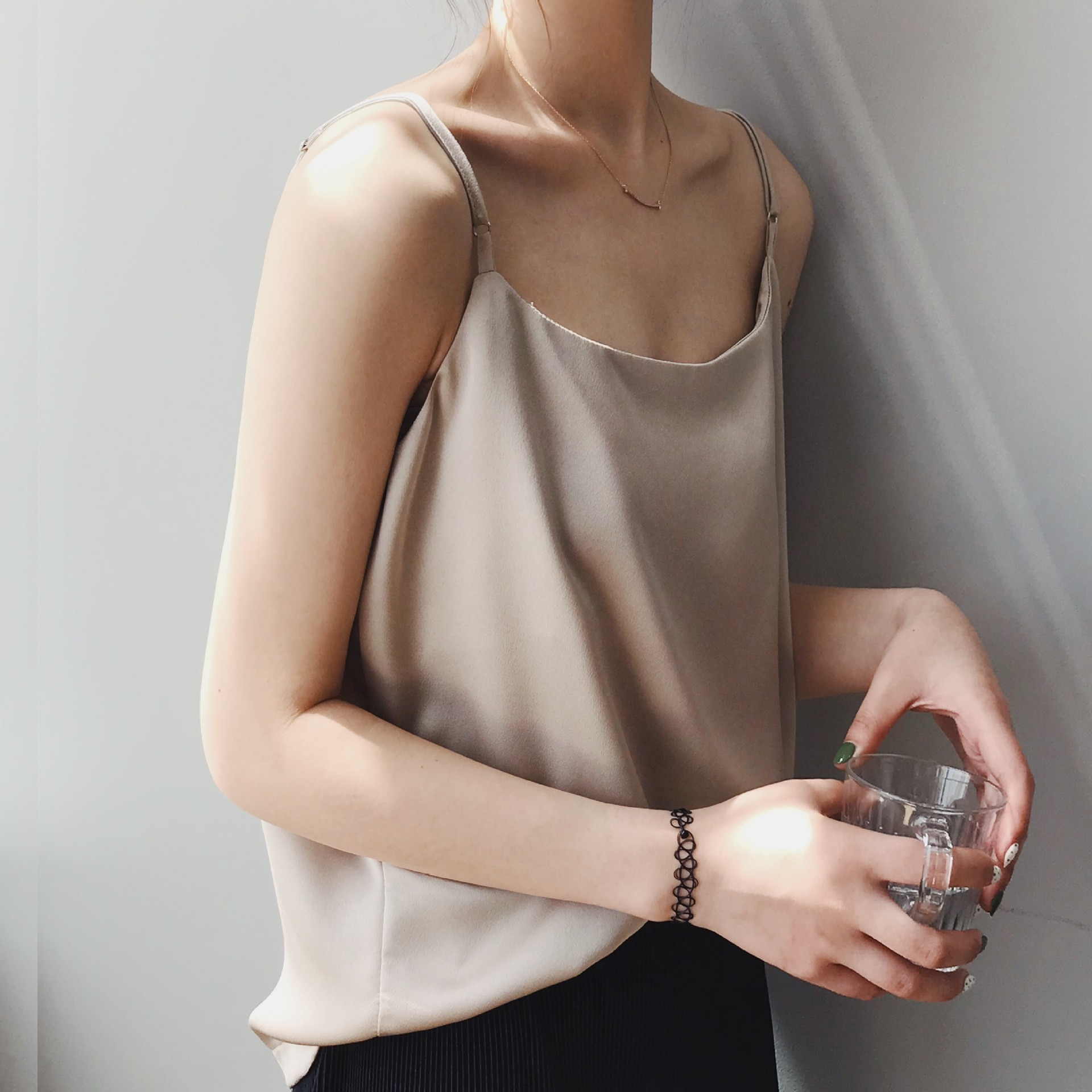 CMAZ Summer Women Camis Silk Satin Tank Top Women Camisole Sleeveless Vest Roupas Femin Cropped 2021