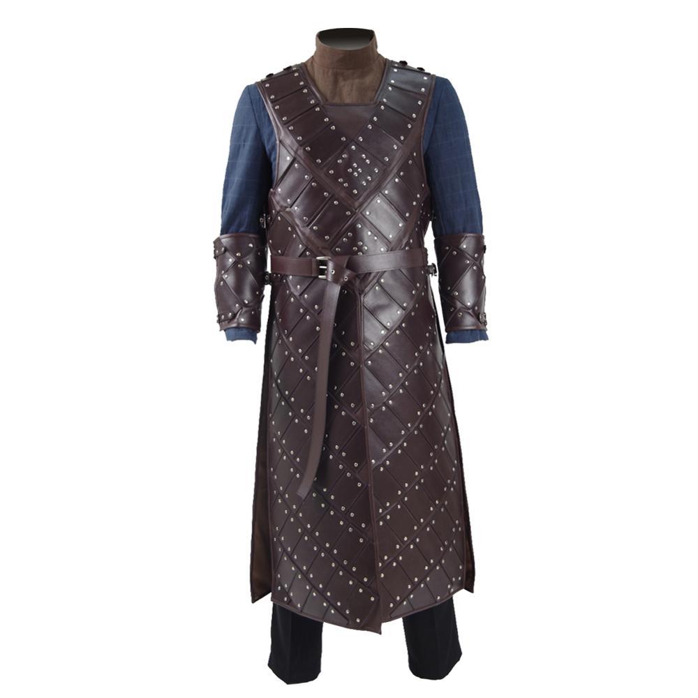 Cossky jon neve cosplay traje masculino roupa trono armadura de neve conjunto completo