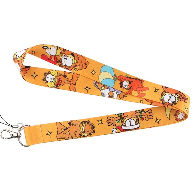 K561 Dongmanli Cat Keychain Cartoon Cute Phone Lanyard Women Fashion Strap Neck Lanyards for ID Card Phone Keys