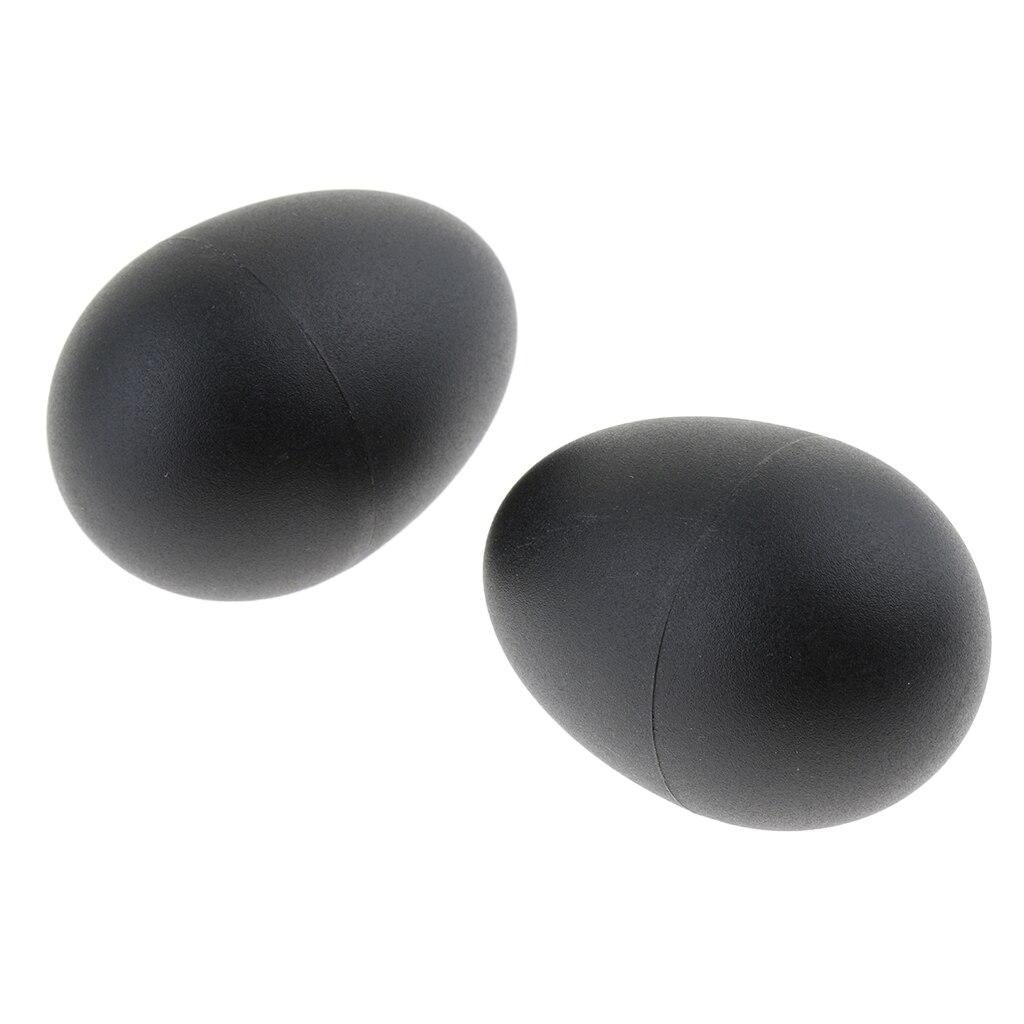 2 Pieces Plastic Black Sand Egg Shaker Performance Parts Kids Toys Gift