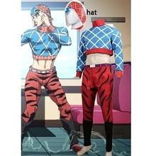 Aventure Bizarre de JoJo vent dor Guido Mista Costume Cosplay tenue combinaison homme Costume Halloween et perruque personnalisable