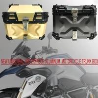 new universal waterproof aluminum motorcycle trunk box 45l luggage pannier cargo tool box storage for yamaha kawasaki suzuki