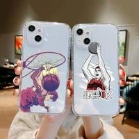 slam dunk sakuragi phone case clear transparent for iphone 11 12 13 mini pro xs max 8 7 6 6s plus x 5s se xr 2020