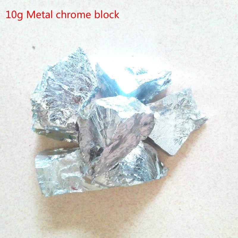 10g 99.99% chromium metal block pure chromium block high-purity chromium vacuum packaging 10g 99 9% vanadium metal in glas ampoule under argon pure element 23 sample