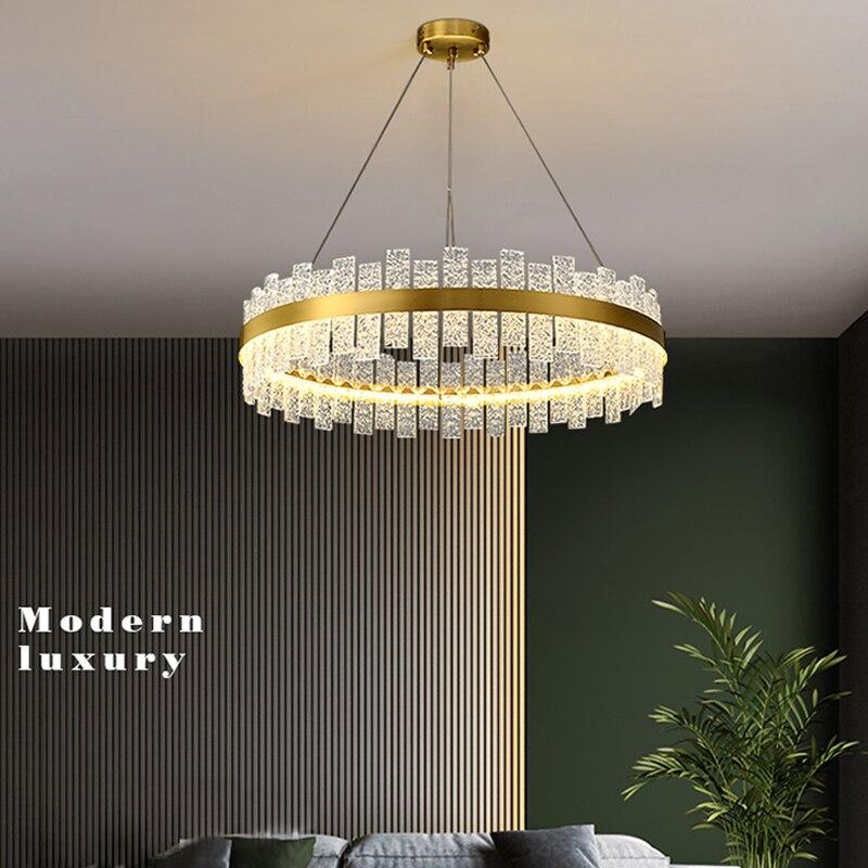 Скандинавская роскошная хрустальная люстра для гостиной, индивидуальный дизайн, креативная стеклянная Подвесная лампа для ресторана, выст...