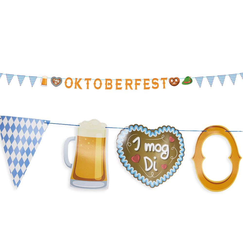 5m Oktoberfest Große Banner Girlande Fahnen München Beer Octoberfest Bier Festival Partei Liefert Papier Banner