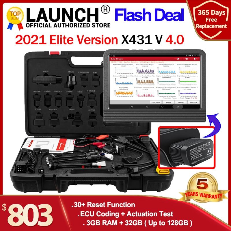 Launch X431 V Car OBD2 Diagnostic tools Full System ECU Coding 30+ reset Scanner pro auto tool kit key program PK x431 v+ Autel