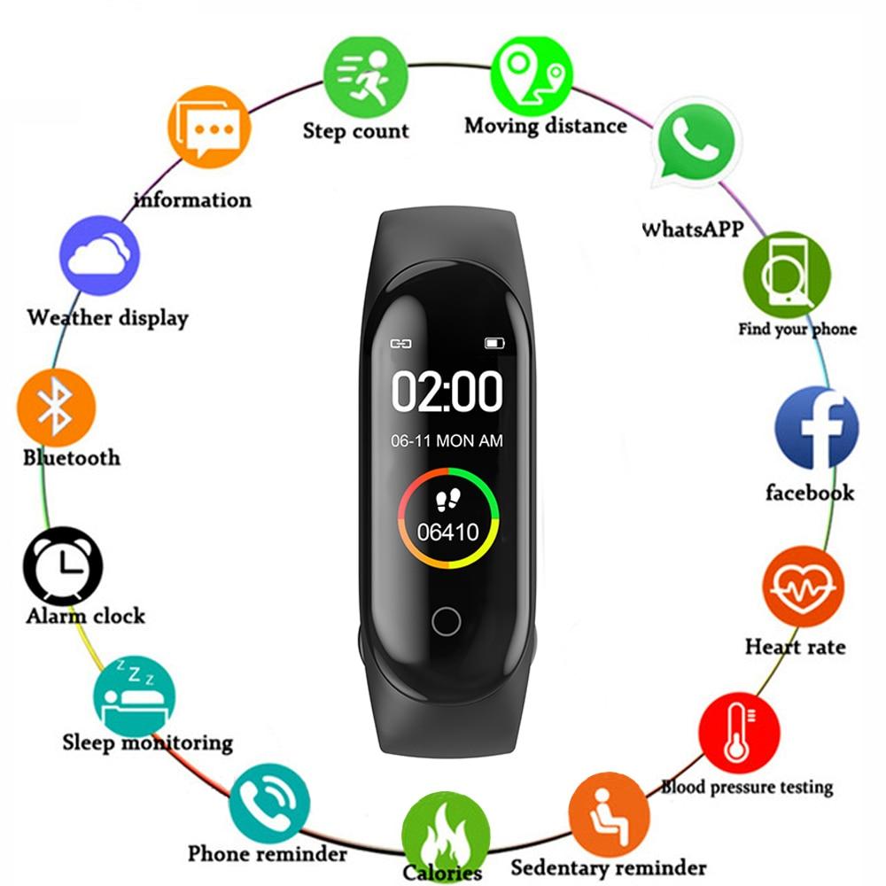 2019 M4 plus SmartWatch Heart Rate Monitor Blood Pressure Sport Bracelet Waterproof Fitness Tracker Activity Tracker Smart Watch