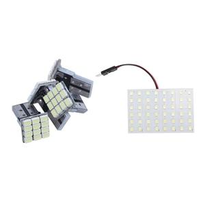 1set White 1210 SMD 48 LED Car Interior e Light & 4x T10 W5W White Canbus 1206 12-SMD LED 12V Bulb Lamp