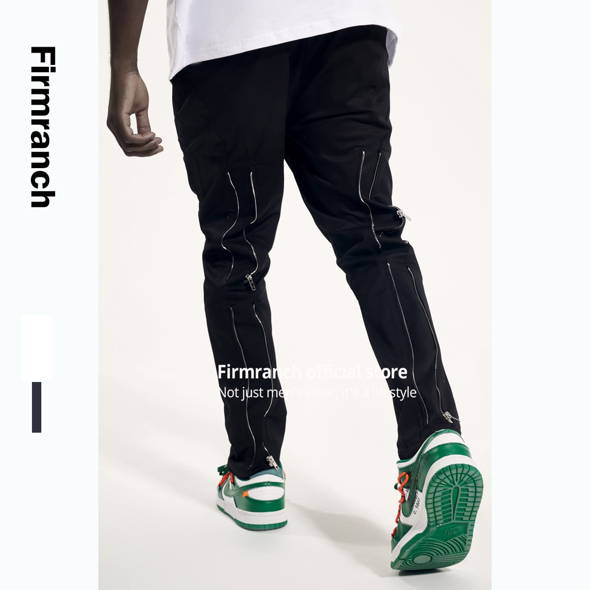 Firmranch أخبار 2021 عالية الشارع Kenijima السراويل عودة زمم فيبي Vuja نمط دي Ramifier الرجال مفهوم السراويل مزدوجة ارتداء