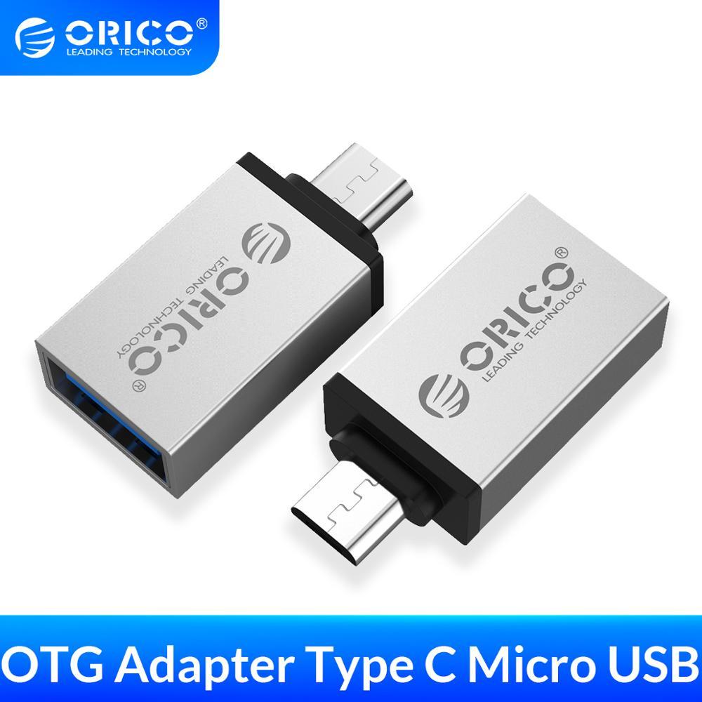 Адаптер ORICO OTG USB 3,0 к type C Micro B usb type-C OTG для samsung Macbook OPPO