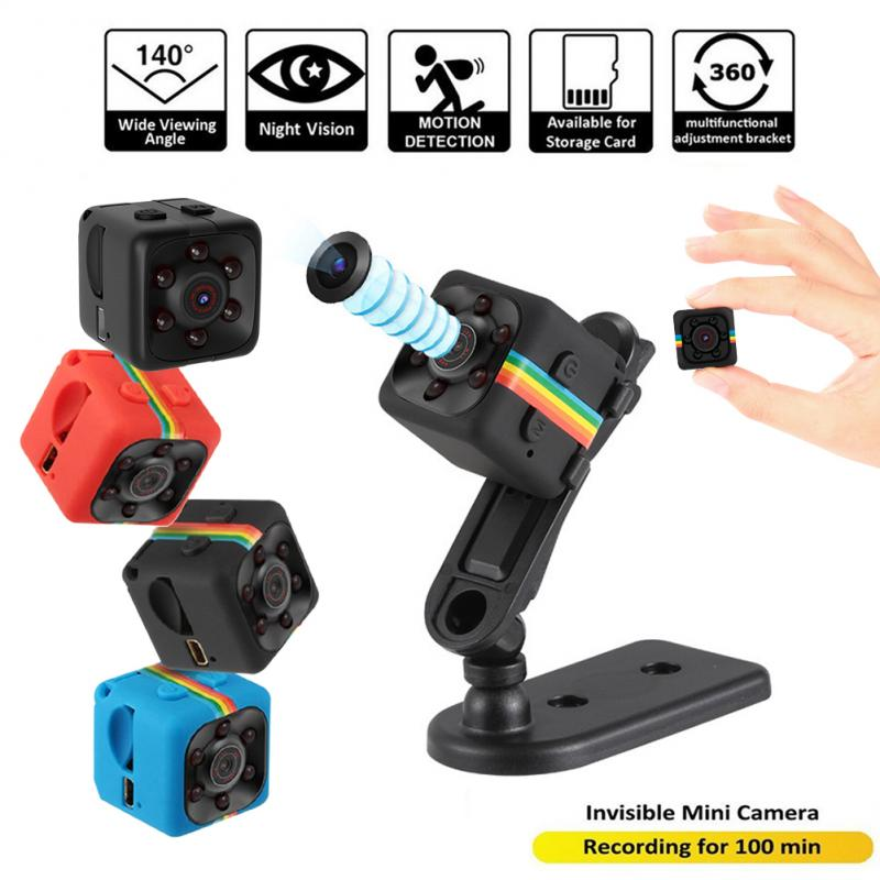 SQ11 Mini cámara pequeña 720P, videocámara con Sensor de visión nocturna, Micro cámara de vídeo DVR DV, cámara grabadora de movimiento, cámara de 3 colores