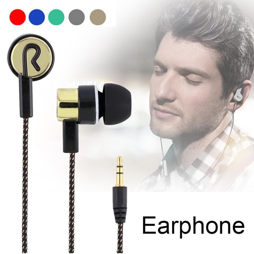 Fashionable In-Ear Stereo Earphone Braided Wire Headset sport earphone for running music Phone PC Earphone