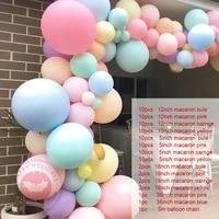 91pcsset macaron candy balloon garland arch happy birthday party decoration baby shower wedding birthday balloon baby shower