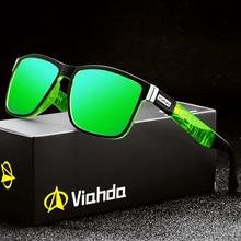 Viahda-lunettes de soleil polarisées pour hommes   Design de marque, lunettes de soleil pour femmes, Spuare miroir dété UV400 Oculos