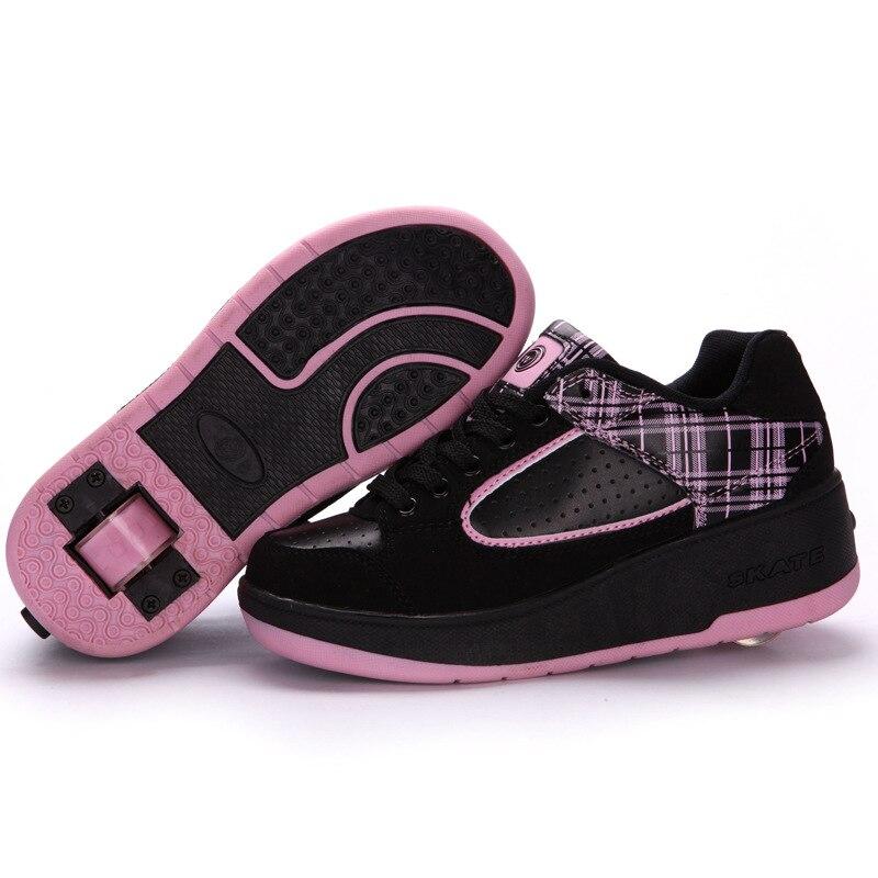 Súper luz Zapatillas de deporte Con rueda niño primavera Roller Skate Zapatos...