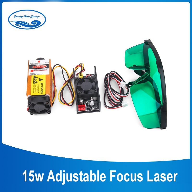15W 450nm Laser Module Blue Light laser Head cutter Laser engraver Laser engraving machine Woodworking Machinery Parts