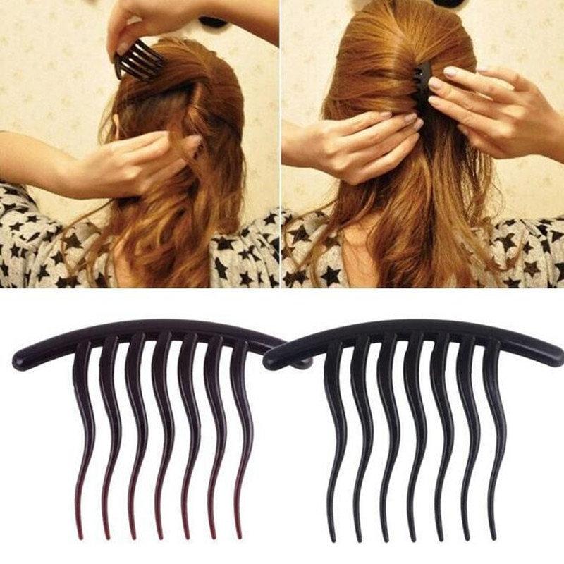AliExpress - 2Pcs/lot Volume Inserts Hair Clip Ponytail Hair Comb Bun Maker Hairpins Comb Grips Hair Comb Styling Tools Ornaments Headwear