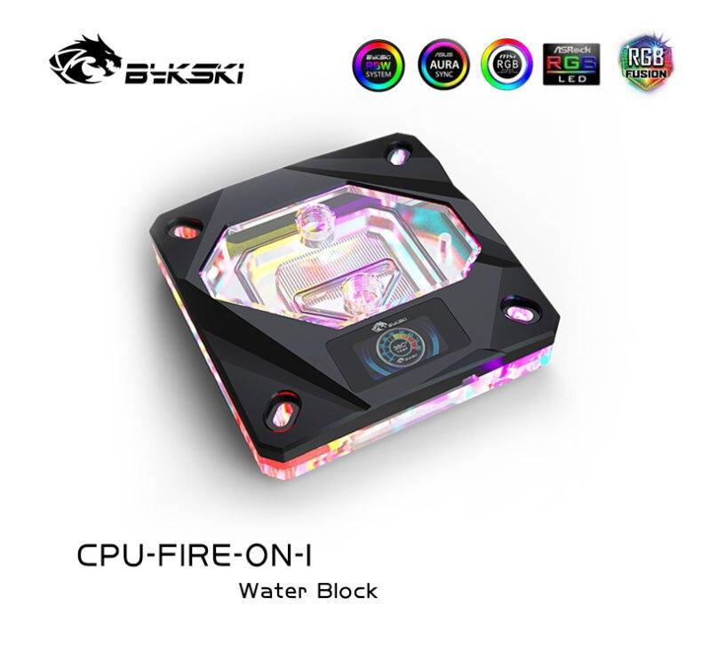 Bykski uso do bloco de água da cpu para intel lga1150/1151/1155/1156 2011 x99/A-RGB aura luz/bloco com display de temperatura oled